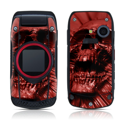 Casio G'zOne Ravine Skin - Skull Blood