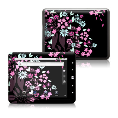 Coby Kyros 8in Tablet Skin - Dark Flowers