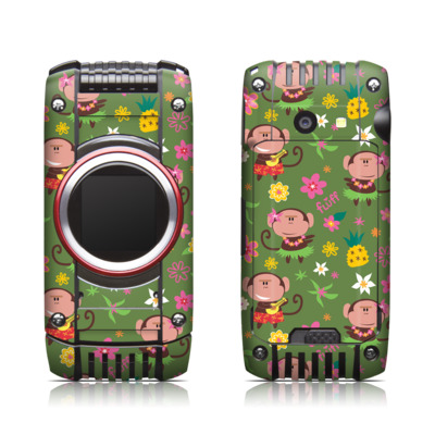 Casio G'zone Ravine 2 Skin - Hula Monkeys