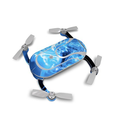 Dobby Pocket Drone Skin - Blue Quantum Waves