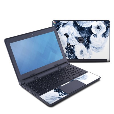 Dell Chromebook 11 Skin - Blue Blooms