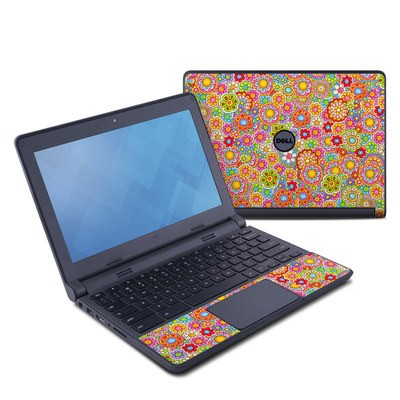 Dell Chromebook 11 Skin - Bright Ditzy
