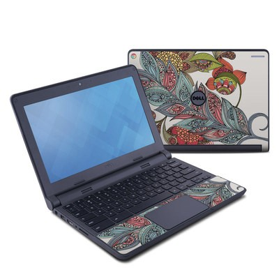 Dell Chromebook 11 Skin - Feather Flower