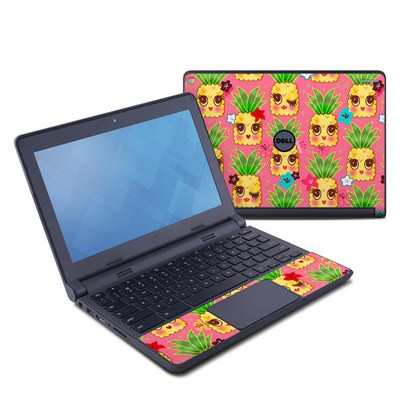 Dell Chromebook 11 Skin - Happy Kawaii Pineapples