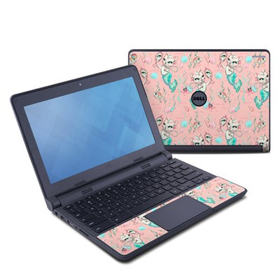 Dell Chromebook 11 Skin - Merkittens with Pearls Blush