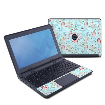 Dell Chromebook 11 Skin - Mermaids and Roses