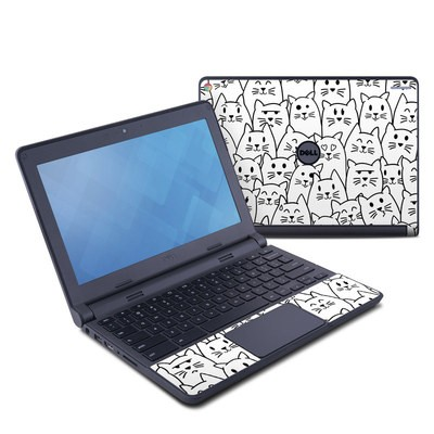 Dell Chromebook 11 Skin - Moody Cats