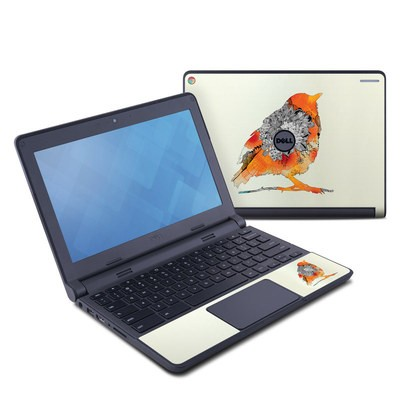 Dell Chromebook 11 Skin - Orange Bird