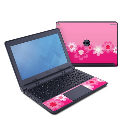 Dell Chromebook 11 Skin - Retro Pink Flowers
