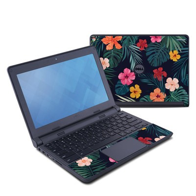 Dell Chromebook 11 Skin - Tropical Hibiscus
