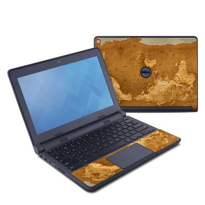 Dell Chromebook 11 Skin - Upside Down Map
