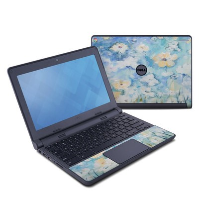 Dell Chromebook 11 Skin - White & Blue