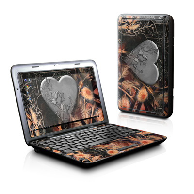 Dell Inspiron Duo Skin - Black Lace Flower