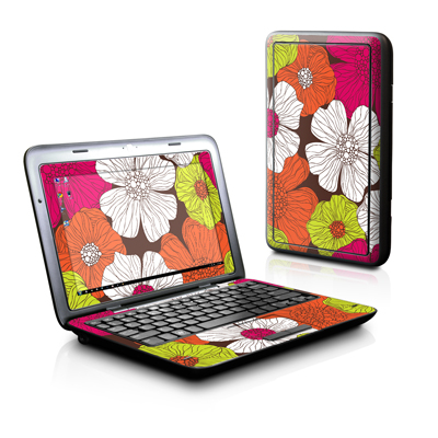 Dell Inspiron Duo Skin - Brown Flowers