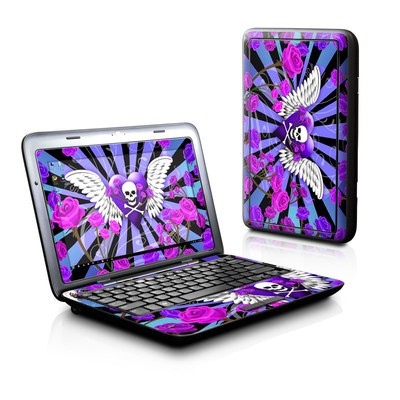 Dell Inspiron Duo Skin - Skull & Roses Purple