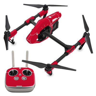 DJI Inspire 1 Skin - Solid State Red