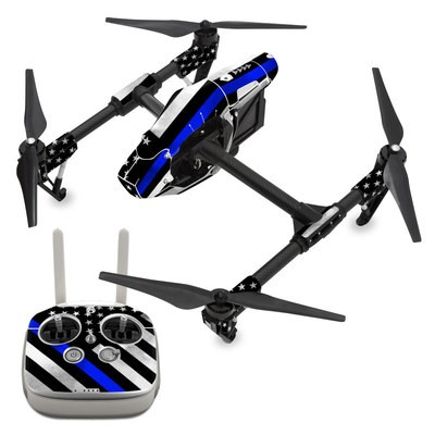 DJI Inspire 1 Skin - Thin Blue Line Hero
