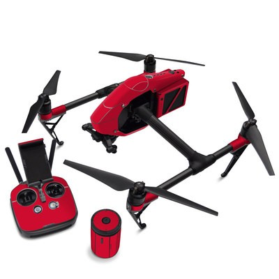 DJI Inspire 2 Skin - Solid State Red