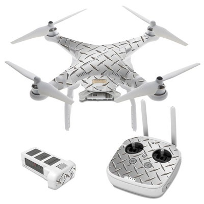 DJI Phantom 3 Skin - Diamond Plate