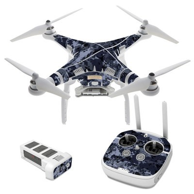 DJI Phantom 3 Skin - Digital Navy Camo