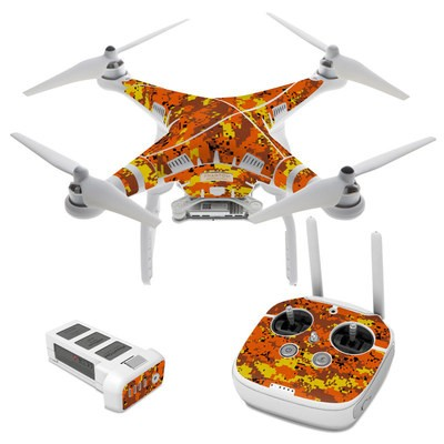 DJI Phantom 3 Skin - Digital Orange Camo