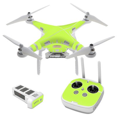 Dji phantom 3 skin solid state lime