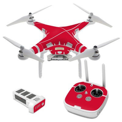 DJI Phantom 3 Skin - Solid State Red