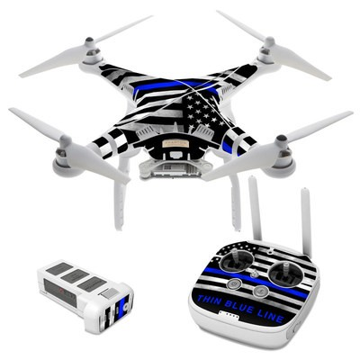 DJI Phantom 3 Skin - Thin Blue Line