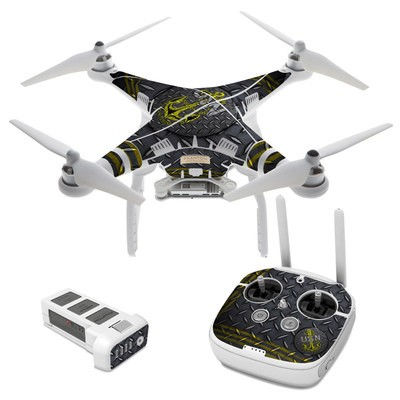 DJI Phantom 3 Skin - USN Diamond Plate