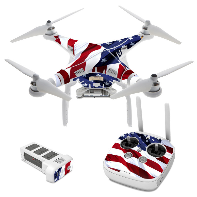 Dji phantom 3 skin patriotic by flags decalgirl