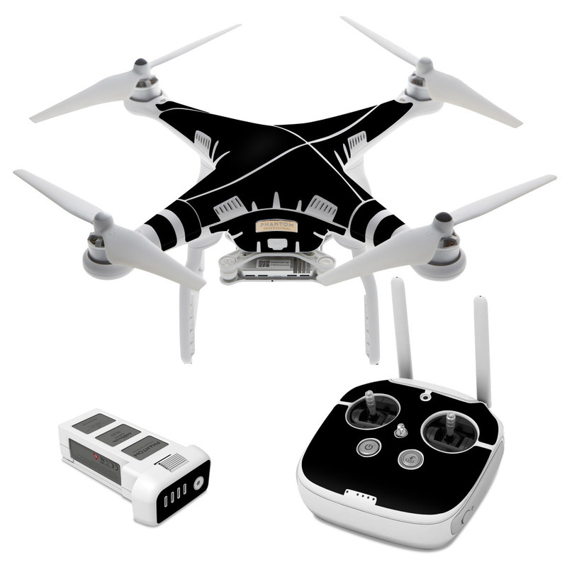 Dji phantom 3 skin solid state black by solid colors decalgirl