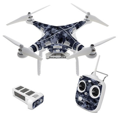 DJI Phantom 3 Standard Skin - Digital Navy Camo