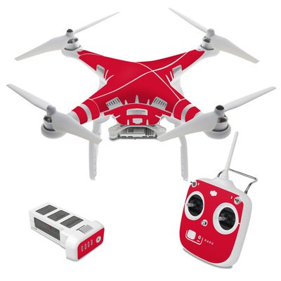 DJI Phantom 3 Standard Skin - Solid State Red