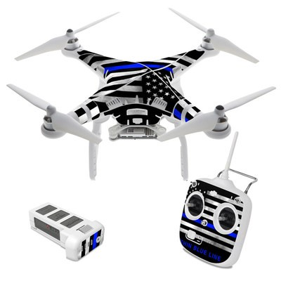 DJI Phantom 3 Standard Skin - Thin Blue Line