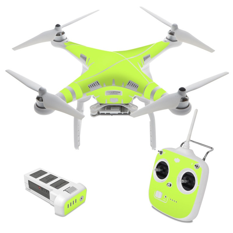 dji phantom 3 standard skin solid state lime by solid. Black Bedroom Furniture Sets. Home Design Ideas