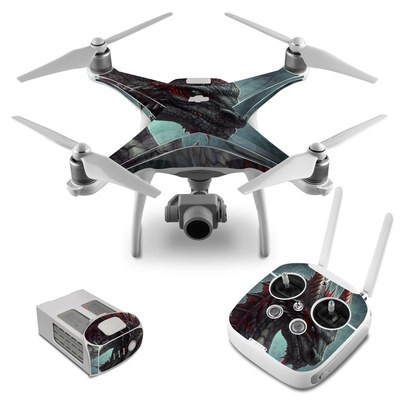 DJI Phantom 4 Skin - Black Dragon