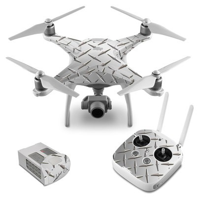 DJI Phantom 4 Skin - Diamond Plate