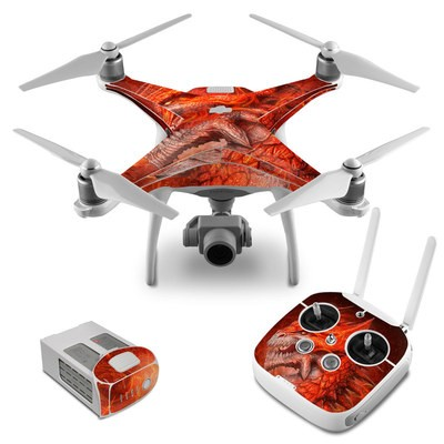 DJI Phantom 4 Skin - Flame Dragon