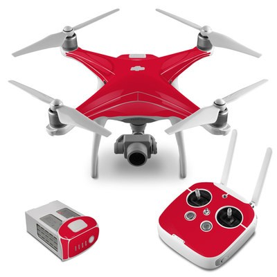 DJI Phantom 4 Skin - Solid State Red