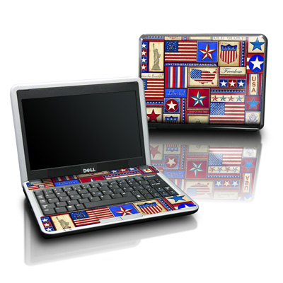 Dell Mini Skin - Flag Patchwork