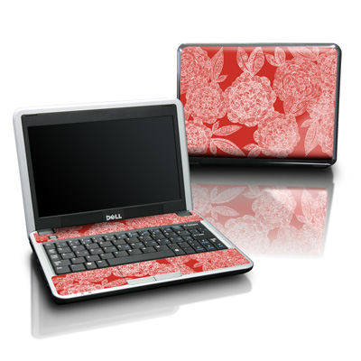 Dell Mini Skin - Red Dahlias