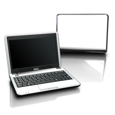 Dell Mini Skin - Solid State White