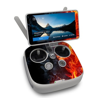 DJI Phantom 4 Pro Plus Controller Skin - Flower Of Fire