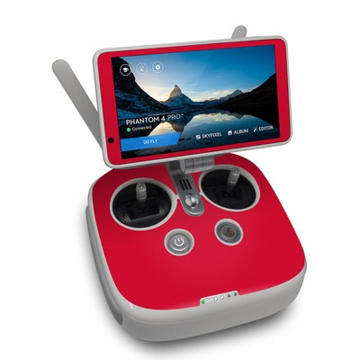 DJI Phantom 4 Pro Plus Controller Skin - Solid State Red