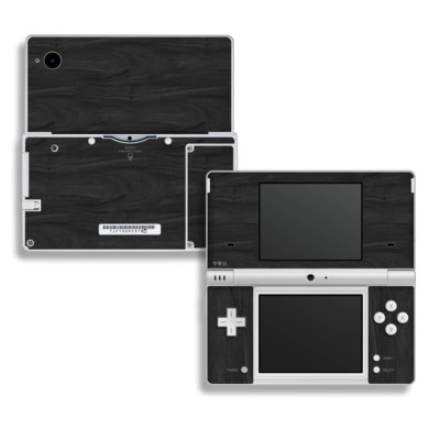 DSi Skin - Black Woodgrain