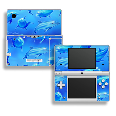 DSi Skin - Swimming Dolphins