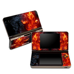 DSi XL Skin - Flower Of Fire