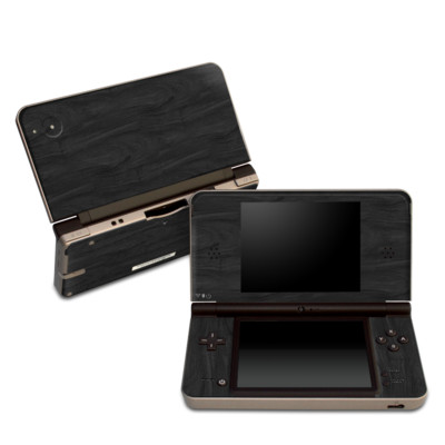DSi XL Skin - Black Woodgrain