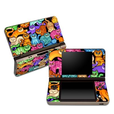 DSi XL Skin - Colorful Kittens