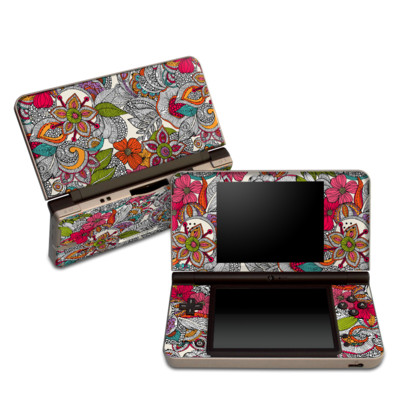 DSi XL Skin - Doodles Color